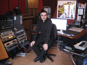 Fab in The Fabulous Room, a fanatically equipped mixing and mastering studio