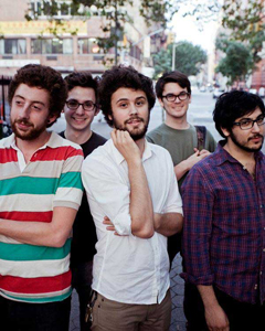 Passion Pit: Michael Angelakos in center.