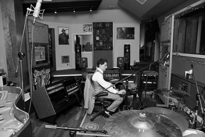 Dave Kutch at his mastering desk setup in The Oven's live room.