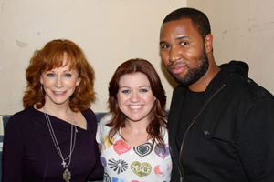 Reba McEntire, Kelly Clarkson and Claude Kelly