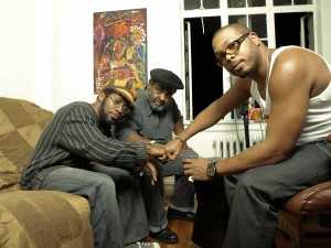 (l-r) Daddy O, Umar Bin Hassan, and Will Roberson