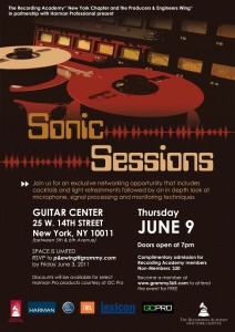 The Recording Academy NY Presents Sonic Sessions: Networking & Audio Event on Thursday, 6/9