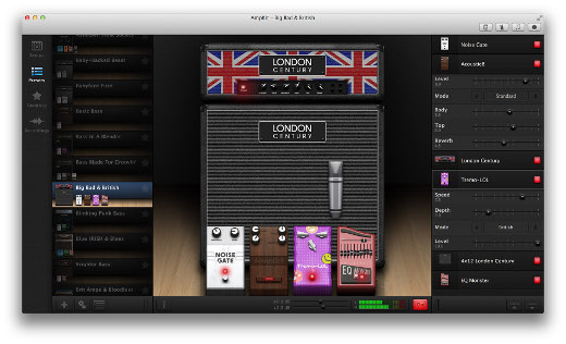 ampkit launched for mac users guitar amp effects and recording app sonicscoop. Black Bedroom Furniture Sets. Home Design Ideas