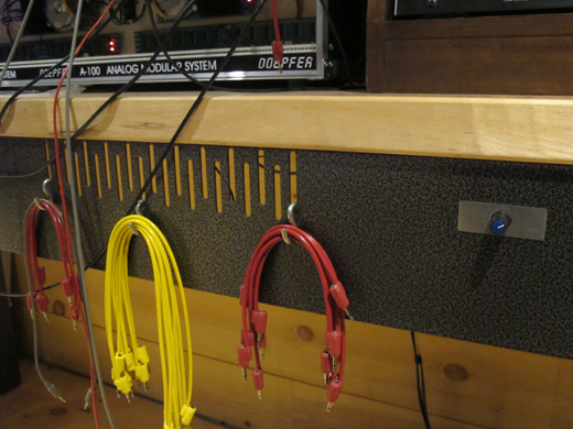 Cables are at the ready to patch connections.