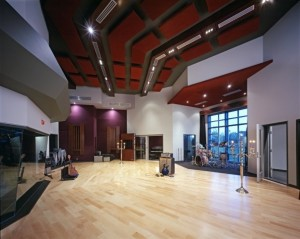 Live room at Saint Claire Recording