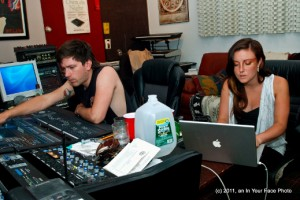 Stereo Telescope, Kurt Schneider and Nikki D, at Chillhouse Studios in Charlestown, MA.
