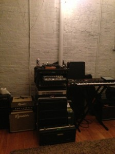 Headroom in the rehearsal space.