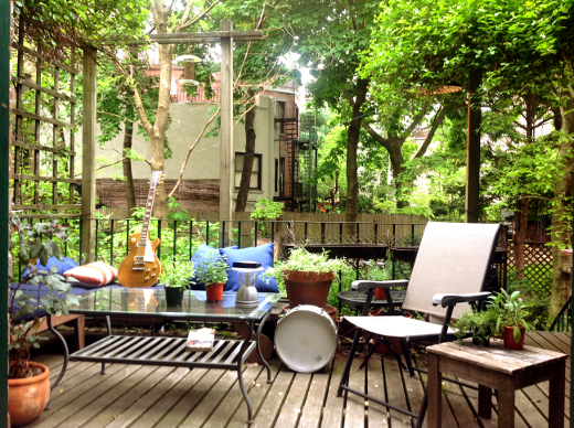 The garden that The Garden is named after -- a civilized audio outpost in Brooklyn.