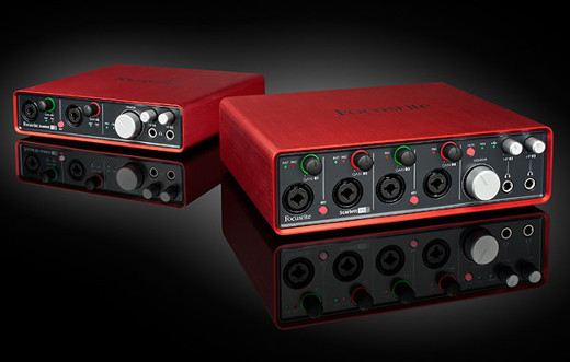 Get RED-y for the latest pair of interfaces from the Focusrite Scarlett line.