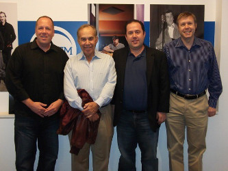 (left to right): Richard  Stumpf, President of Imagem Music, Marc Gershwin, Todd Gershwin, Peter Raleigh, Vice President, Copyright Administration, Imagem Music