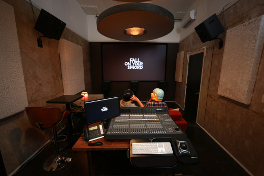 The new mix room at FOYS.