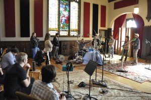 Drum tracking class at Echo Mountain