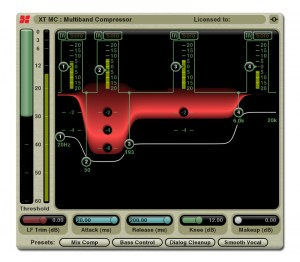 The XT-MC Multi-Band Compressor from the XTools bundle.