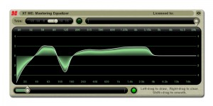 The XT-ME Mastering Equalizer plugin from the XTools bundle.