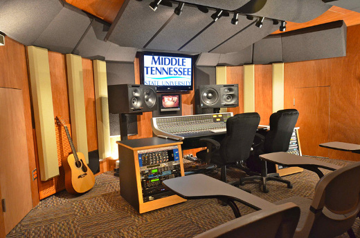 One of two MixRooms onsite at MTSU.