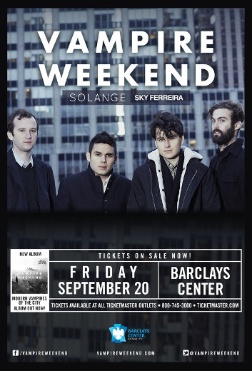 """Vampire Weekend set up their Big Brooklyn Show with a #1 album in """"Modern Vampires of the City"""""""
