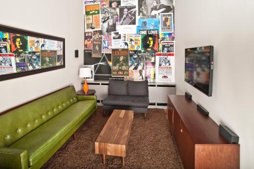 The D'Addario lounge.