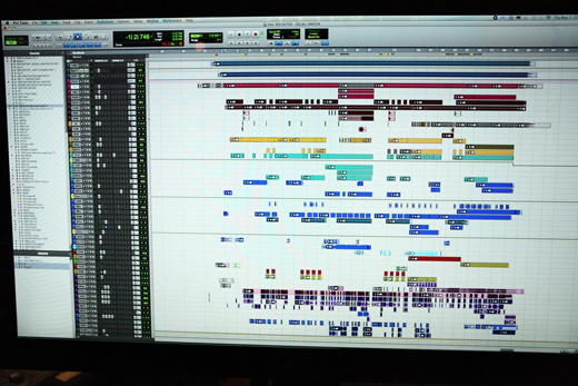 "The Pro Tools session for the album's title track, ""Reflektor."""