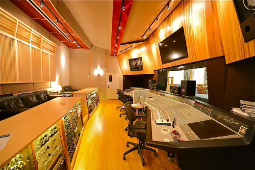 Taking the long view: Pilot's unusually oriented control room houses an 80-input SSL 4000 G+.
