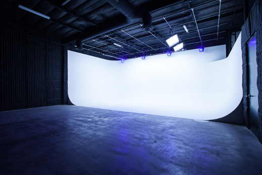 The 20' x 35' x 20' cyclorama is a director's dream.