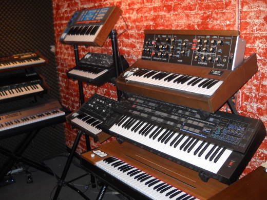 Synths are on hand
