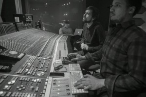 Red Bull Chief Engineer Chris Tabron works the SSL 9000 J