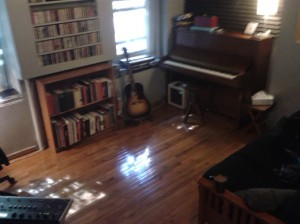 The live room of a West Village apartment is where it happens for ECR Music Group artists.