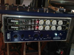 """Morgan's """"magic sidecar"""" apes tape for mixing and mastering."""