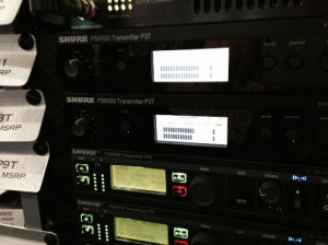 Wireless is wowza with the Shure PSM300.