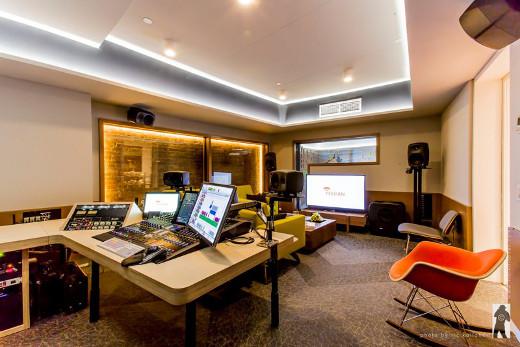 The side angle on Studio A.