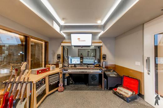 Creative Director/Composer Mike Dragovic occupies Studio B.