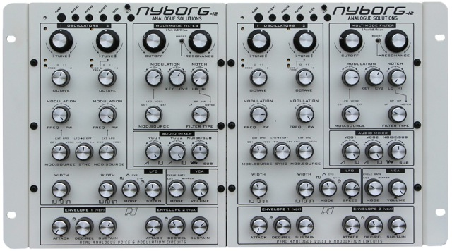 Double your pleasure with Nyborg-12's pure analog construction.