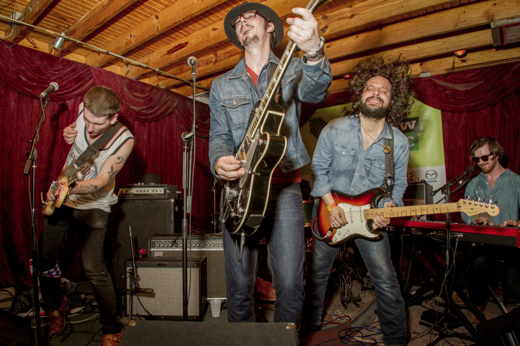 Queens-based rock outfit Hollis Brown at SXSW. Photos and story by Becky Yee.