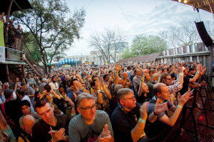 Crowds of music fans at SXSW. Photos and story by Becky Yee.
