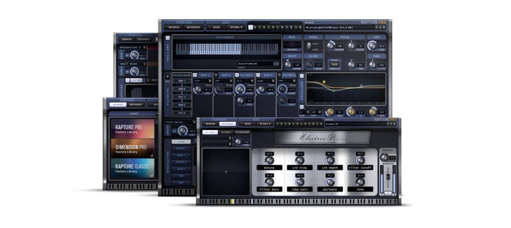 With a more than 10GB of combined samples and patches, Rapture will beam your creativity to a higher level.