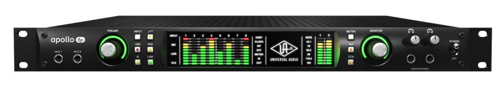 Apollo 8p comes equipped with 8 Unison™ mic preamps.