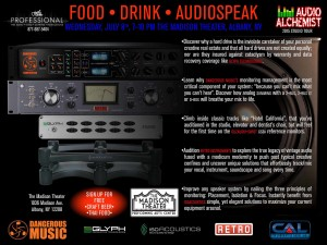 "Event: Guitar Center Pro and Audio Alchemist to Host ""Food