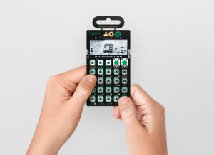 "The ""Rhythm"" Pocket Operator, hand-held."