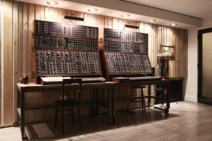 Modular synth system at Savoy's new project studio.