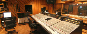A renowned Solid State Logic 9000J 72 input console controls Studio B.