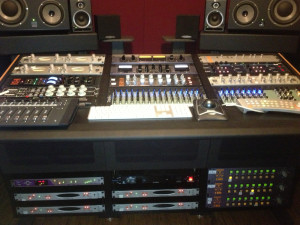 The Sterling Modular console allowed James to dispense with a traditional analog console.