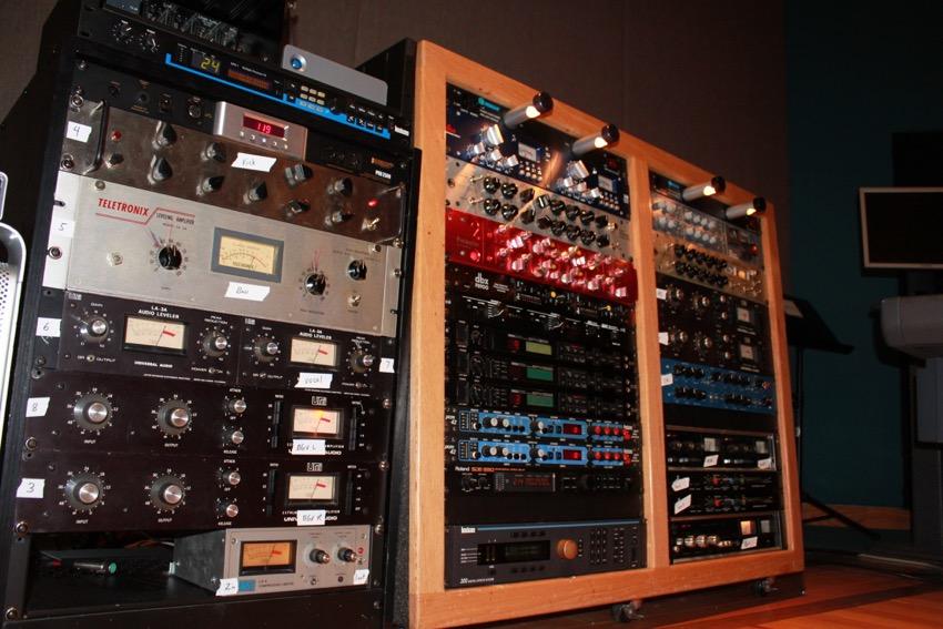 Racks of Gear at Studio 19