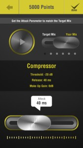 The compressor in Studio Ears 2.0 can help you learn to identify and match attack times.
