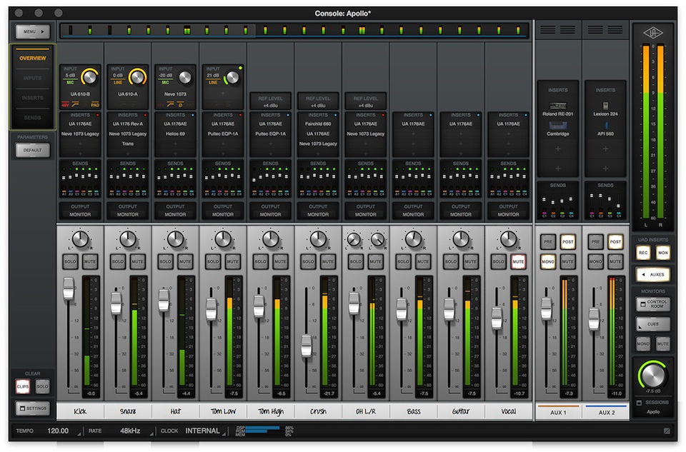 Universal Audio's Console application.
