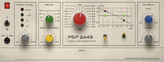 PSP Releases the PSP 2445 – Vintage Reverb Inspired PlugIn