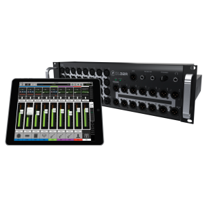 The Mackie Master Fader iPad app (was already adept with the DL32R rackmount digital mixer.