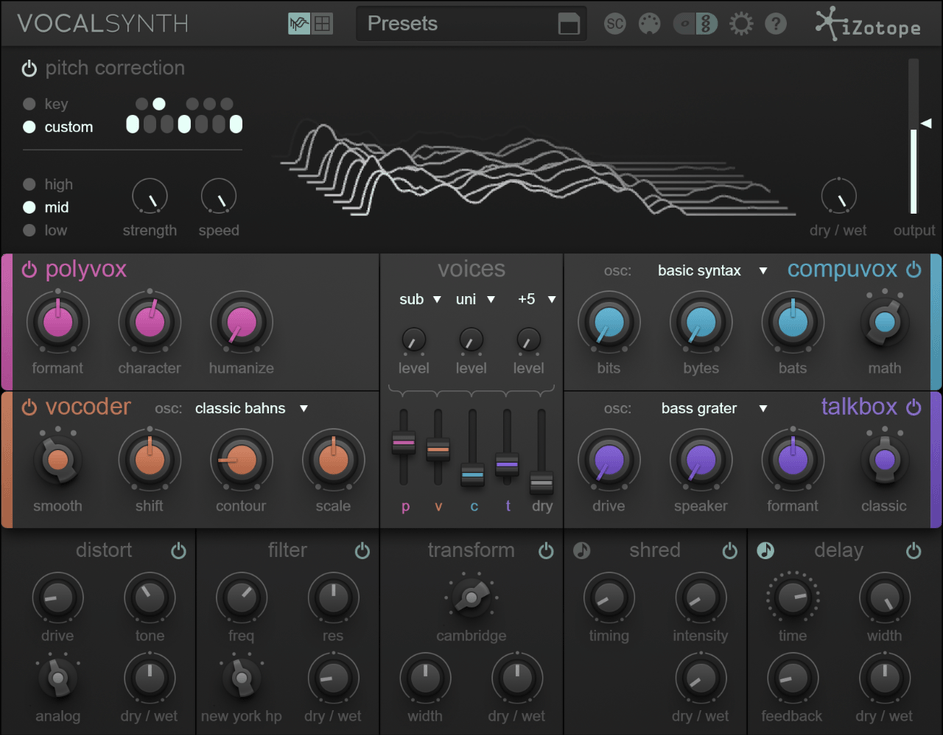 Research & Development: iZotope VocalSynth Vocal Processing Plugin