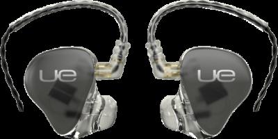 Ultimate Ears custom fit in-ear monitors.