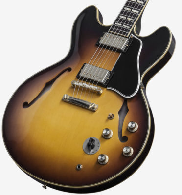Pictured here is the ES-345, a variation on the 335 that includes a tone selection switch.