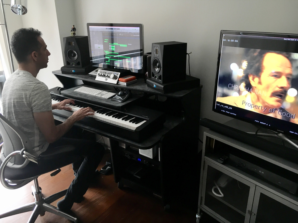 Chris Hajian dove instincts-first into the score in his NYC studio.